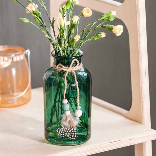 Flower Vase Bottle Green 20cm